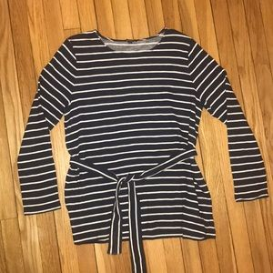 J Crew jersey tunic with a tie